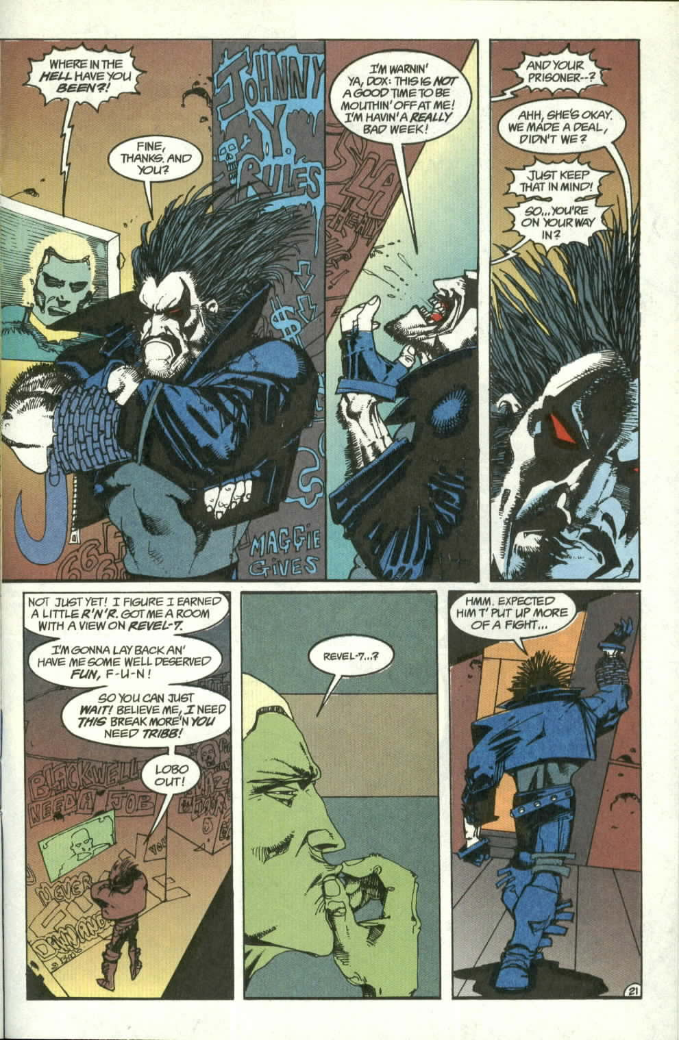 Read online Lobo (1990) comic -  Issue #3 - 22