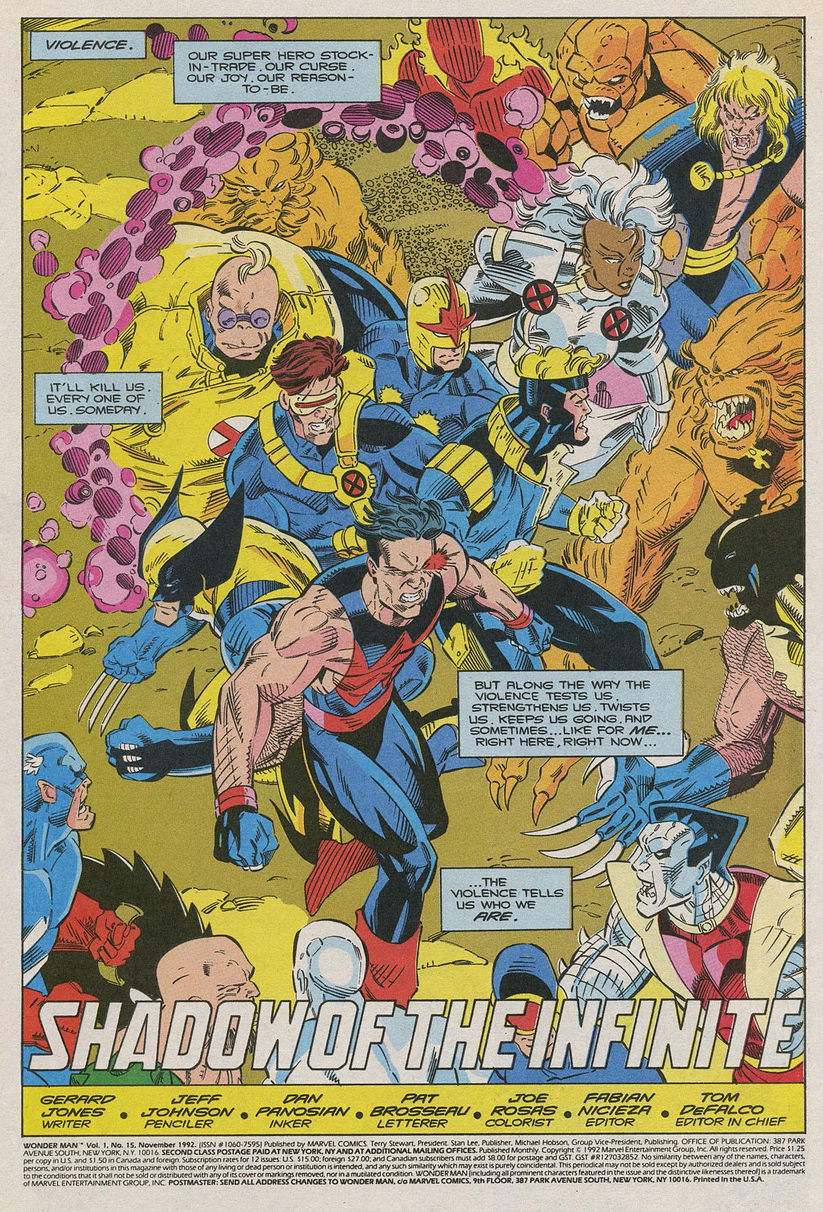 Read online Wonder Man (1991) comic -  Issue #15 - 2