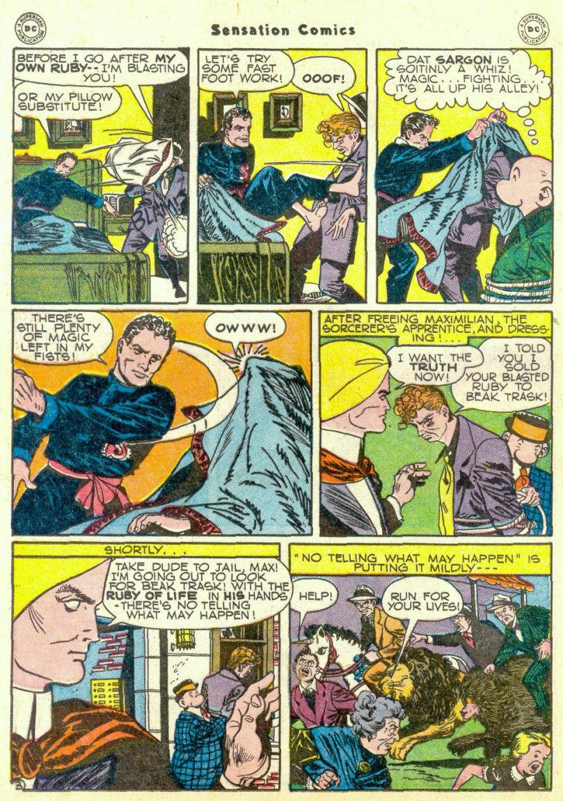 Read online Sensation (Mystery) Comics comic -  Issue #67 - 34