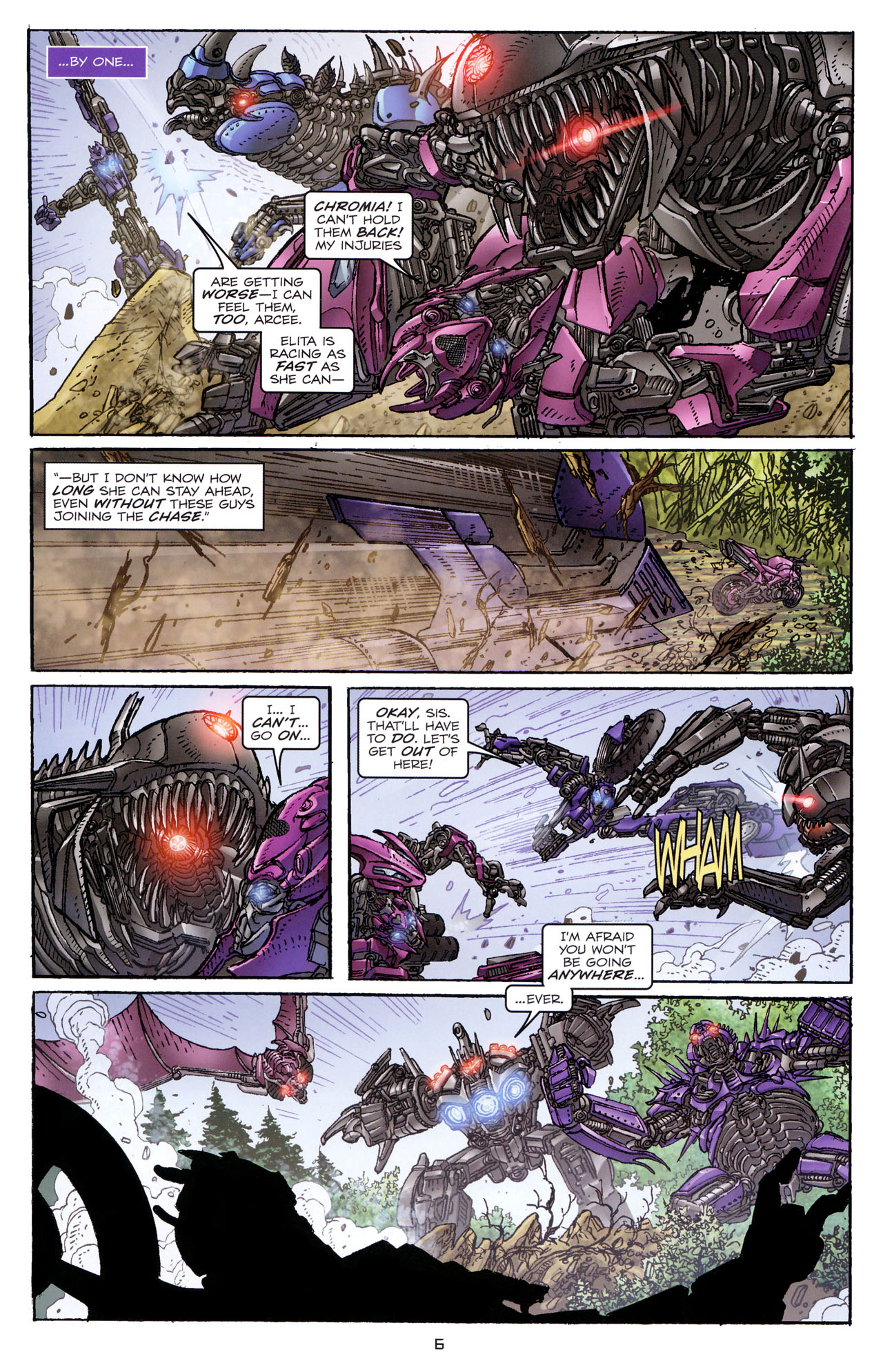 Read online Transformers: Dark of the Moon Rising Storm comic -  Issue #4 - 7