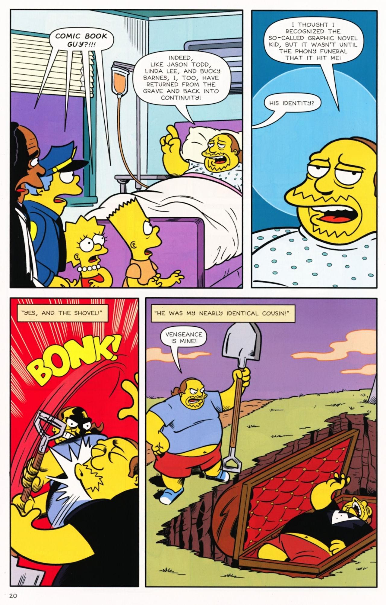 Read online Bongo Comics presents Comic Book Guy: The Comic Book comic -  Issue #5 - 22