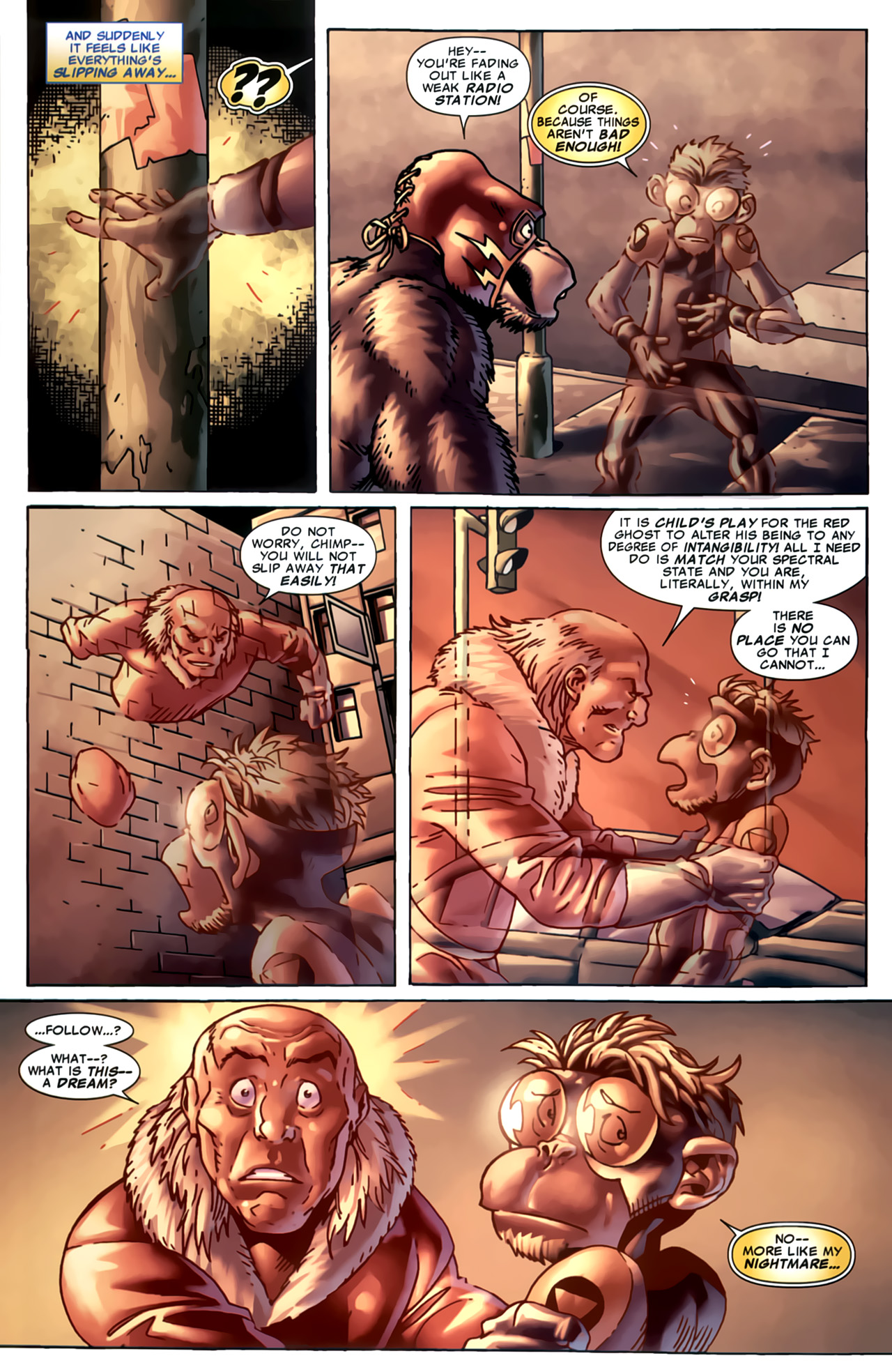 Read online Marvel Apes: Speedball Special comic -  Issue # Full - 24