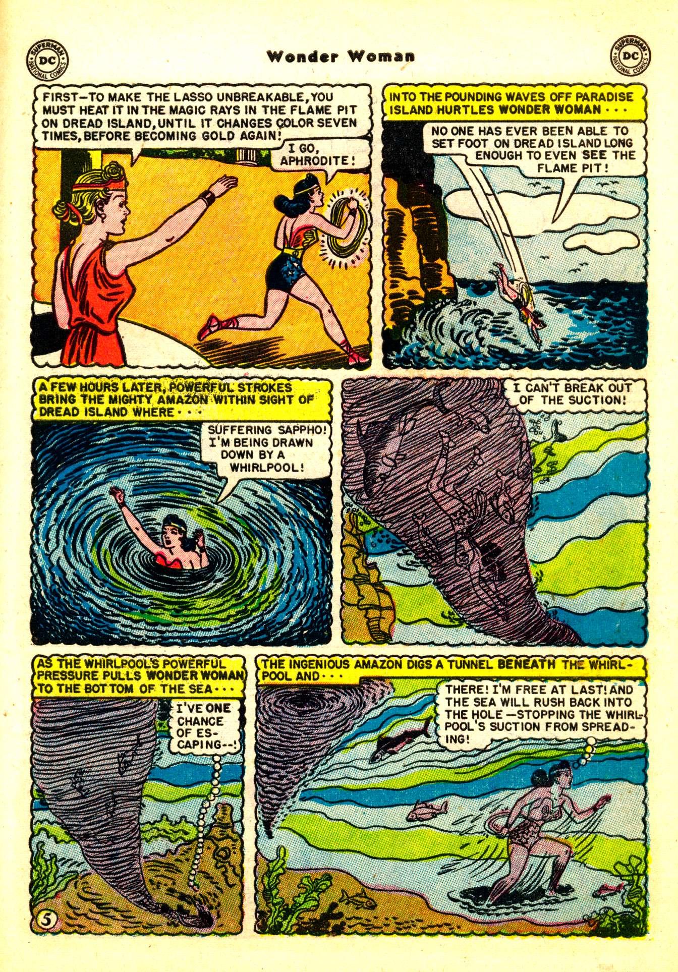 Read online Wonder Woman (1942) comic -  Issue #50 - 35