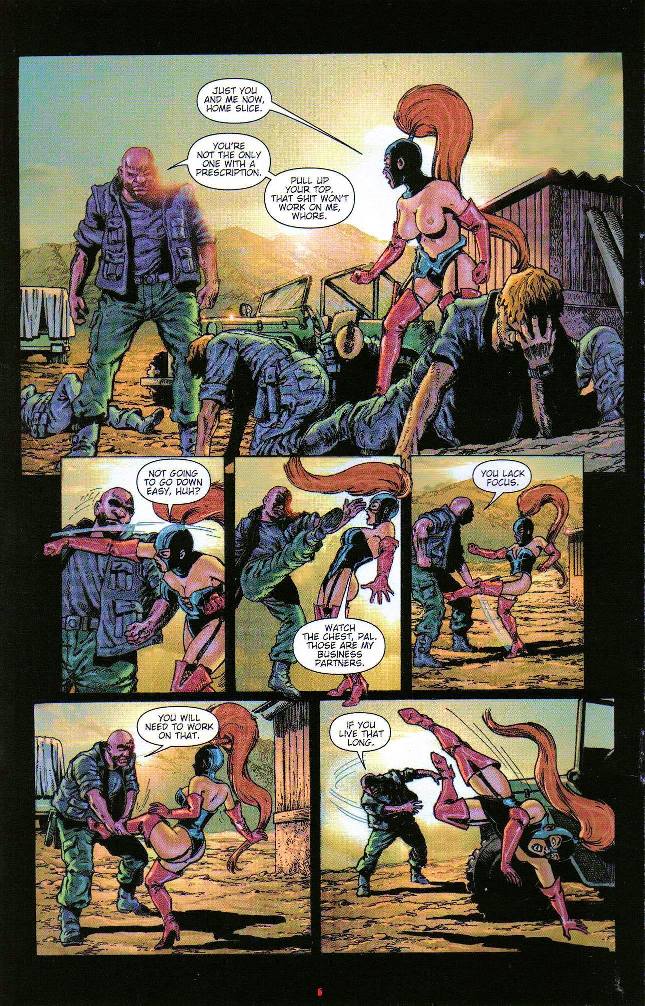 Read online Dominatrix comic -  Issue #3 - 8