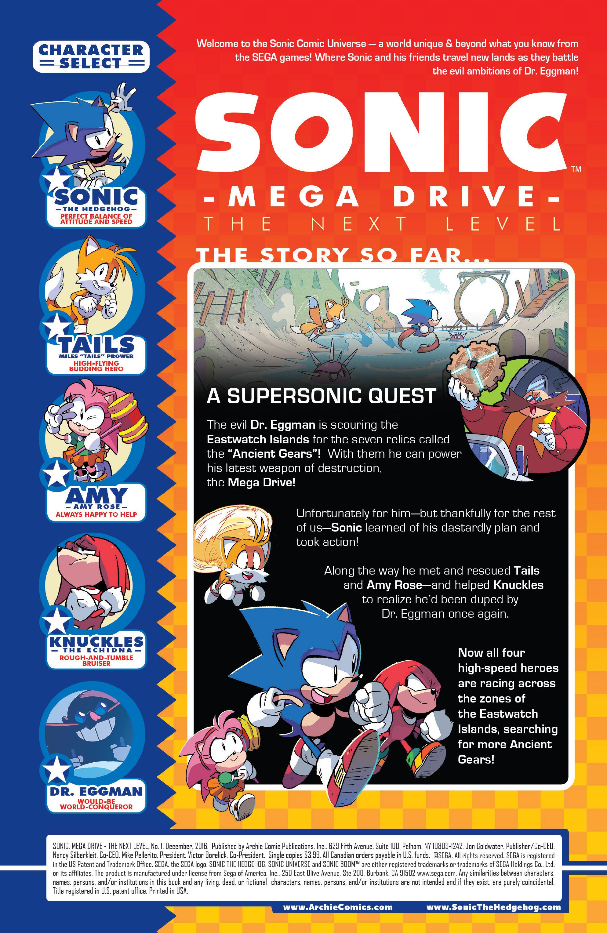 Read online Sonic Mega Drive: Next Level comic -  Issue # Full - 2