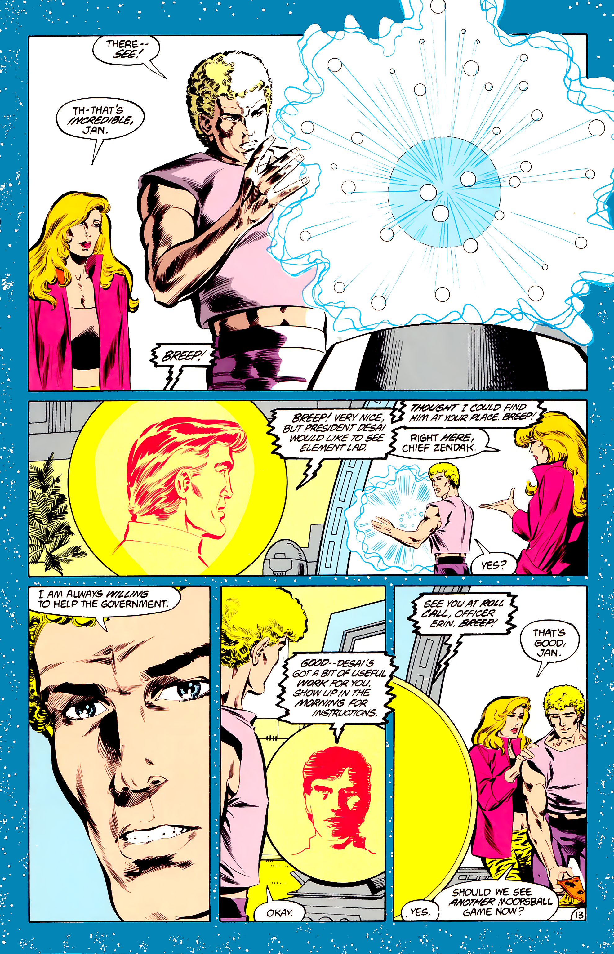 Legion of Super-Heroes (1984) 34 Page 13