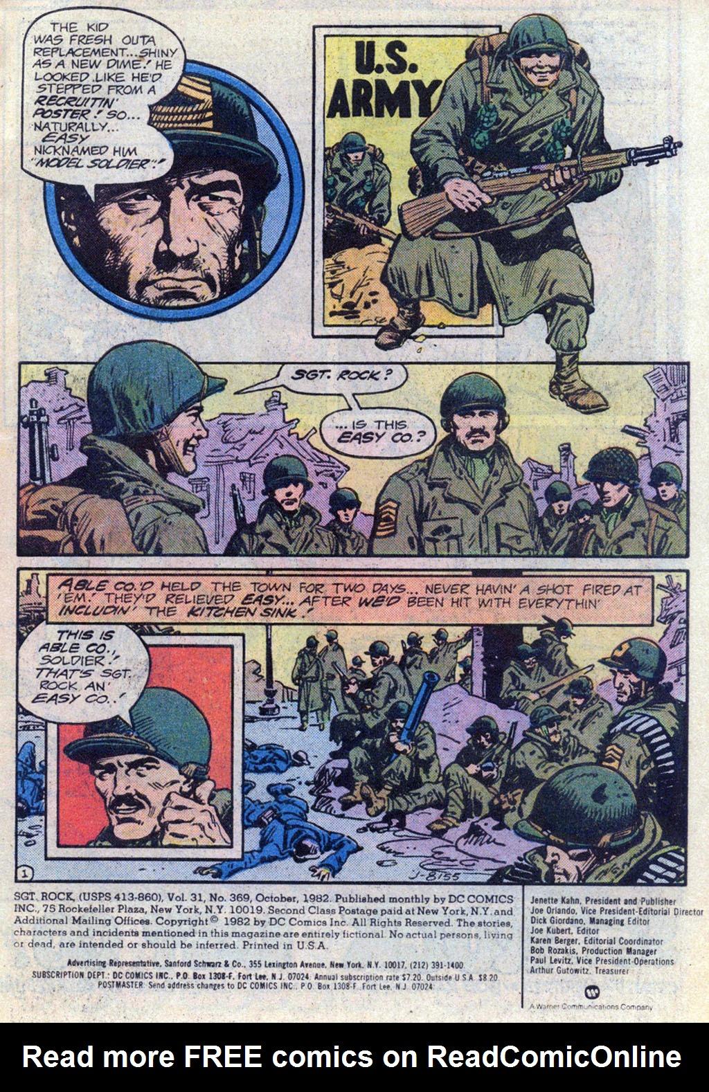 Read online Sgt. Rock comic -  Issue #369 - 2