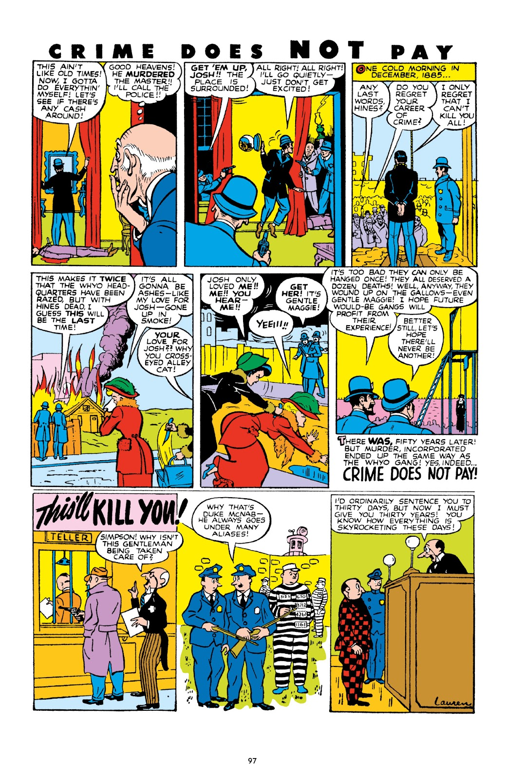 Read online Crime Does Not Pay Archives comic -  Issue # TPB 10 (Part 1) - 98