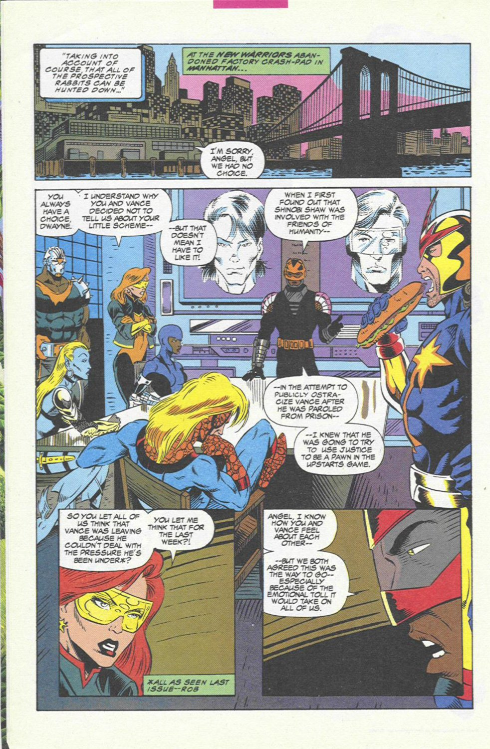 The New Warriors Issue #45 #49 - English 6
