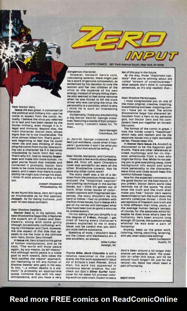 Read online Doctor Zero comic -  Issue #6 - 31