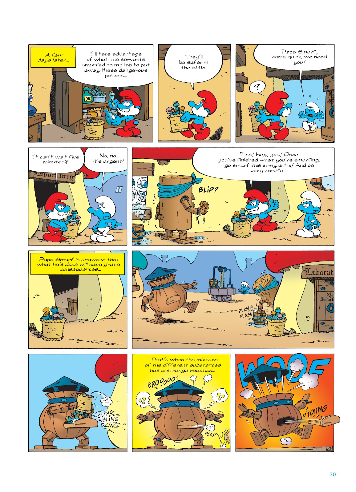 Read online The Smurfs comic -  Issue #23 - 30