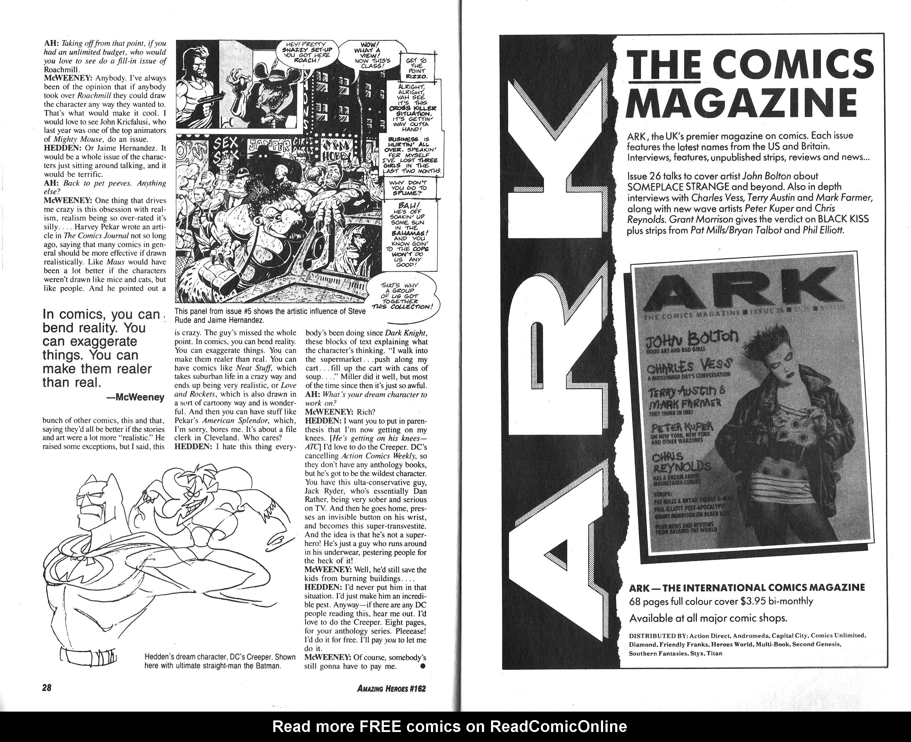 Read online Amazing Heroes comic -  Issue #162 - 15