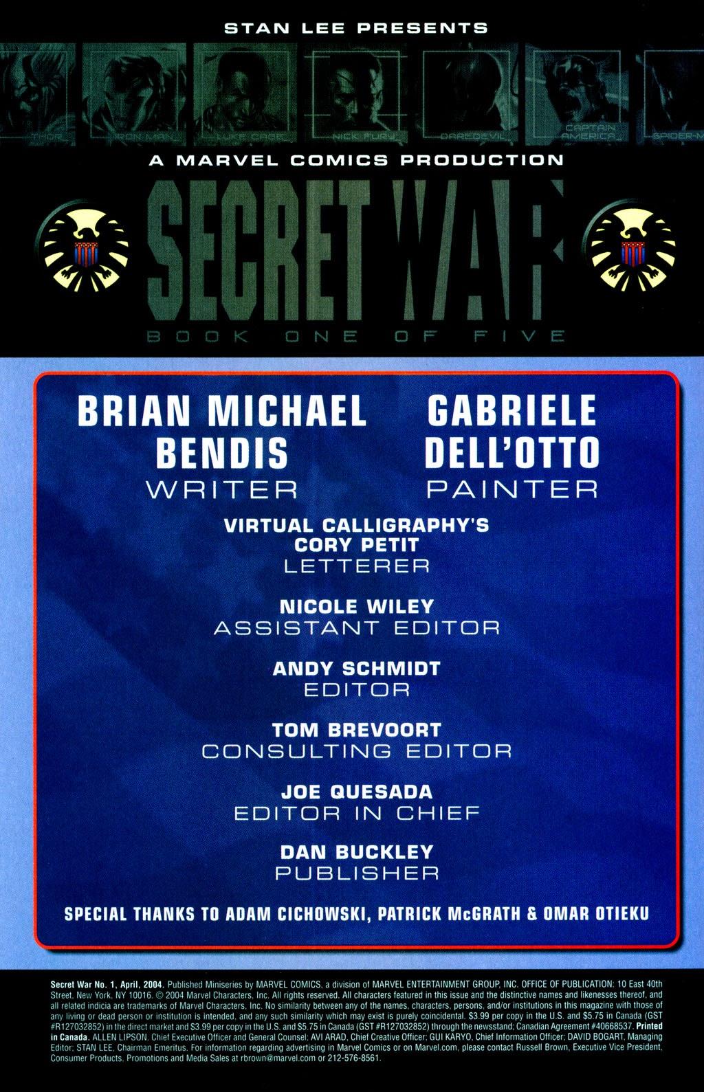 Read online Secret War comic -  Issue #1 - 5