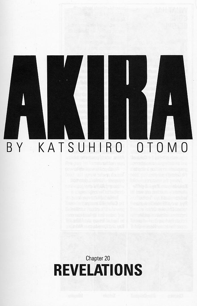 Read online Akira comic -  Issue #20 - 4