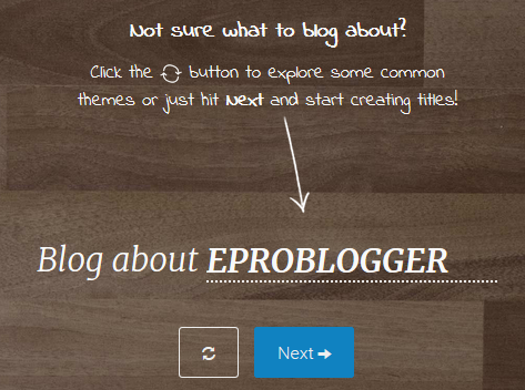 Blog Title generator by BlogAbout : EPB
