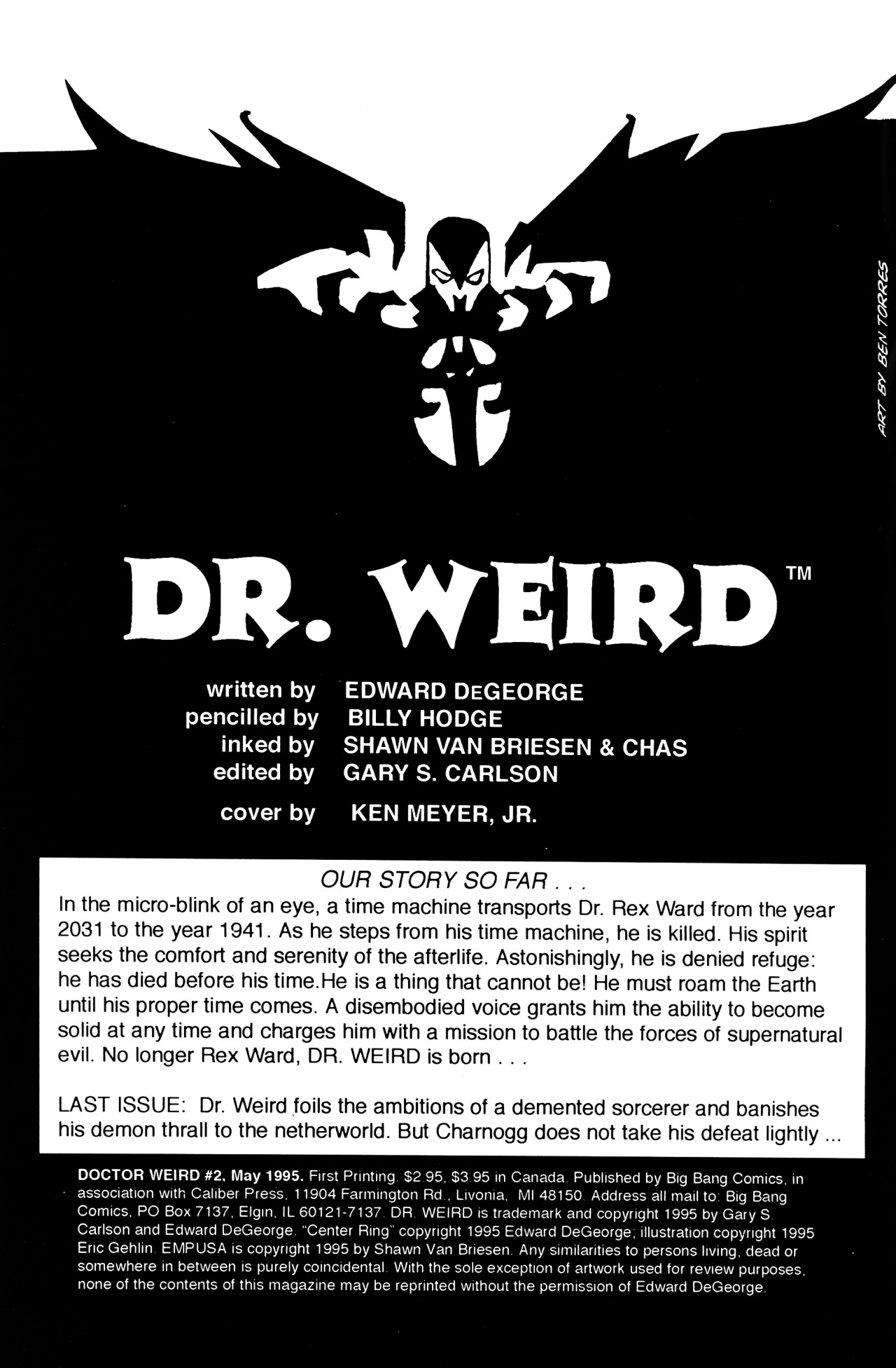 Read online Dr. Weird (1994) comic -  Issue #2 - 2