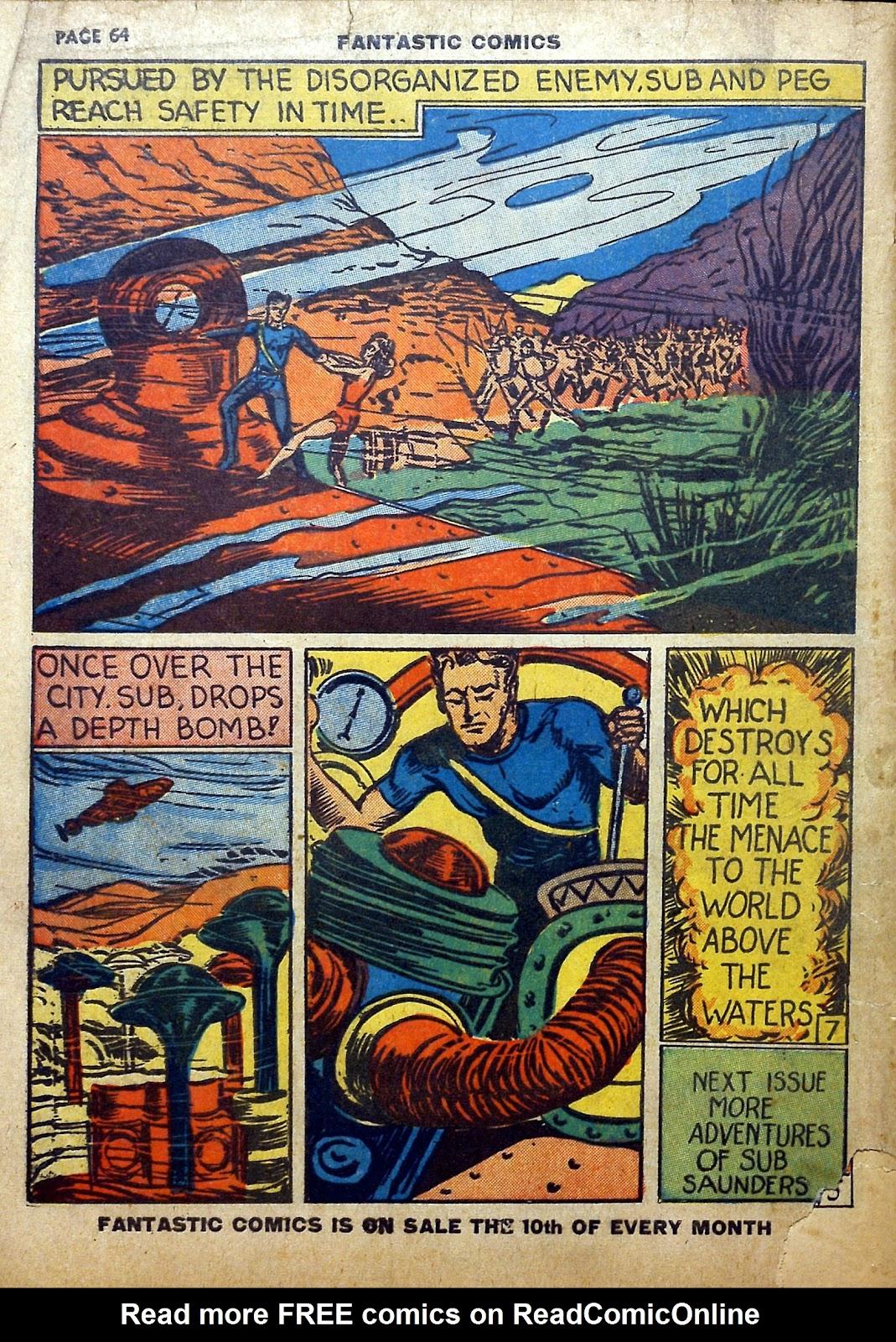 Read online Fantastic Comics comic -  Issue #5 - 65