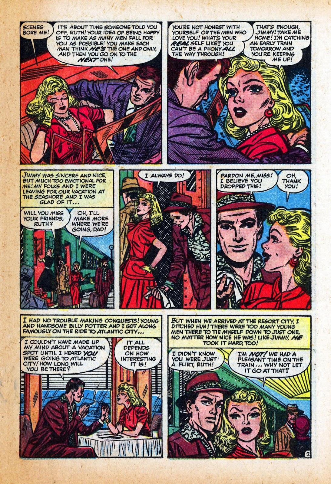 Love Romances (1949) issue 47 - Page 21