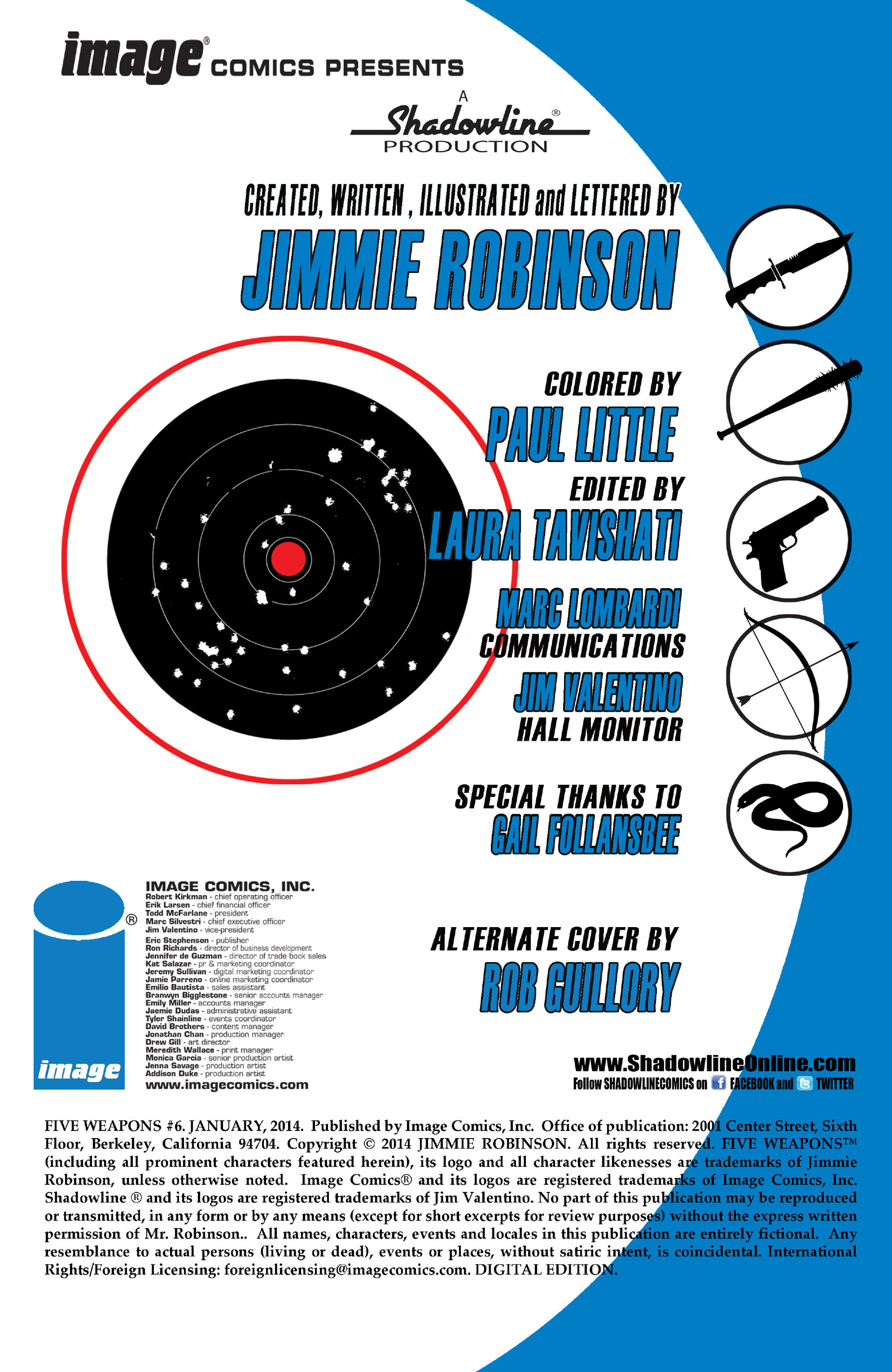 Read online Five Weapons comic -  Issue #6 - 2