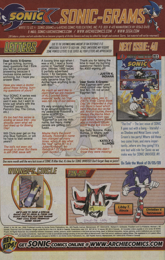 Read online Sonic X comic -  Issue #39 - 34