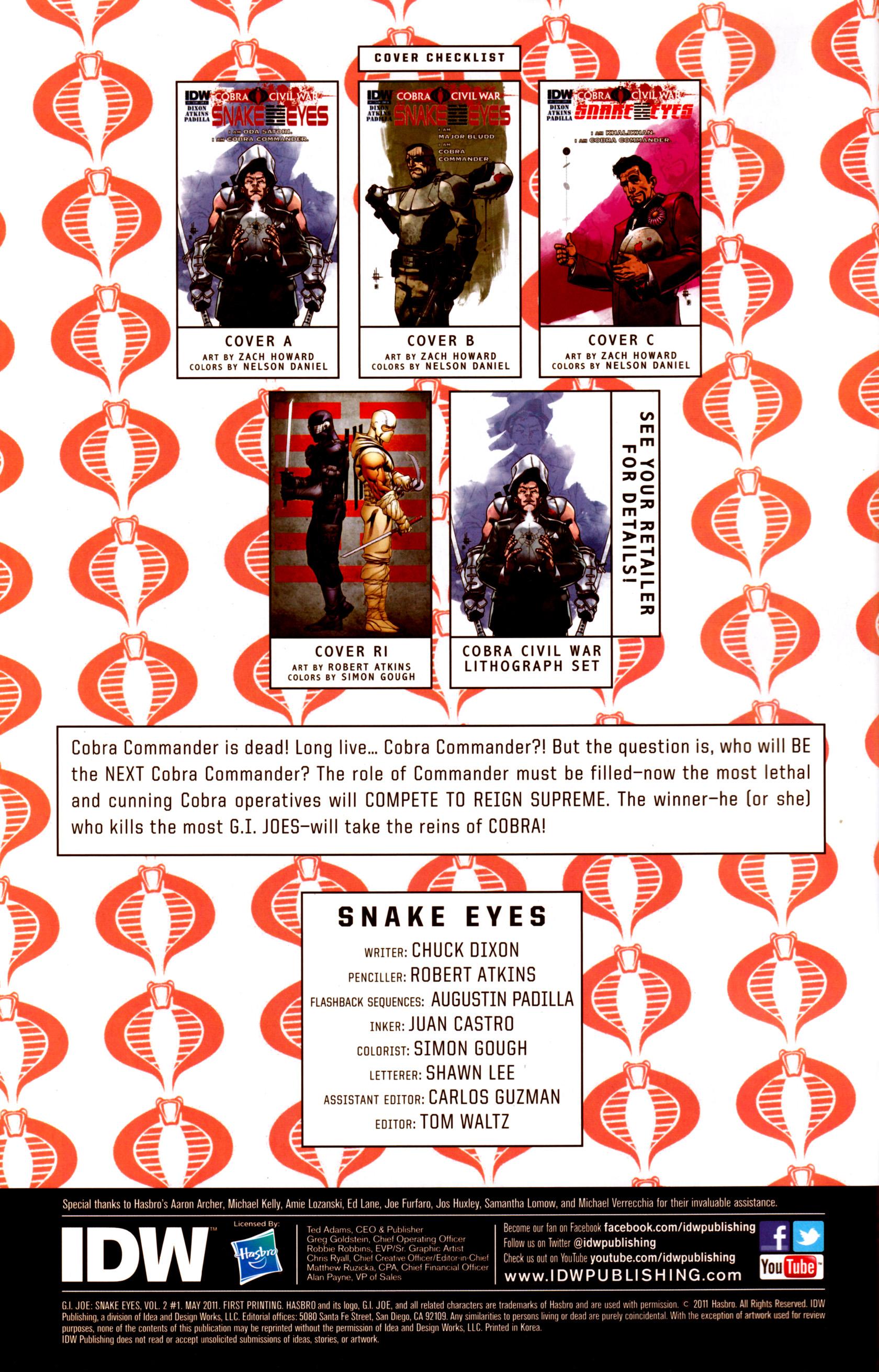 Read online G.I. Joe: Snake Eyes comic -  Issue #1 - 4