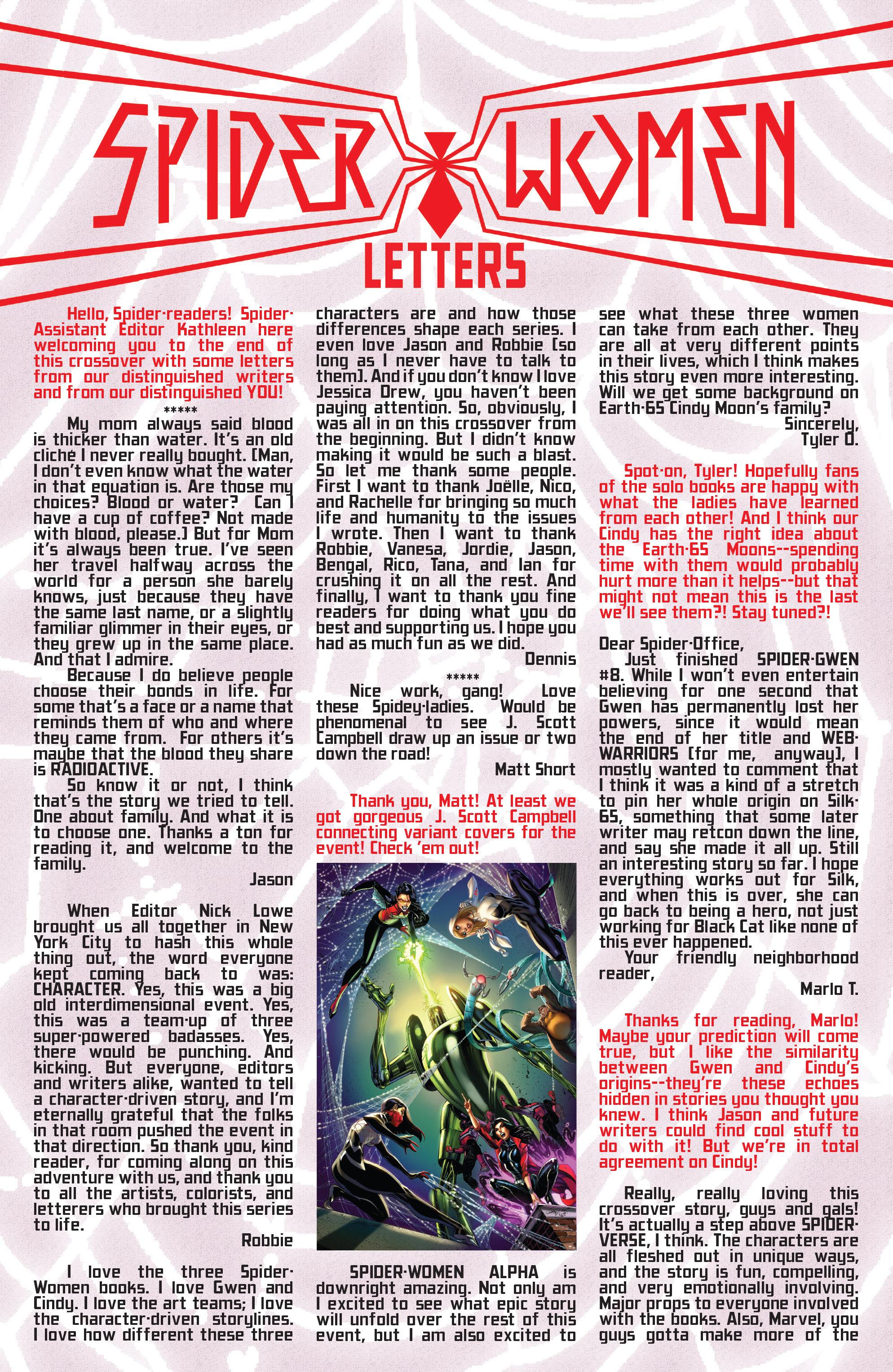 Read online Spider-Women Omega comic -  Issue # Full - 34