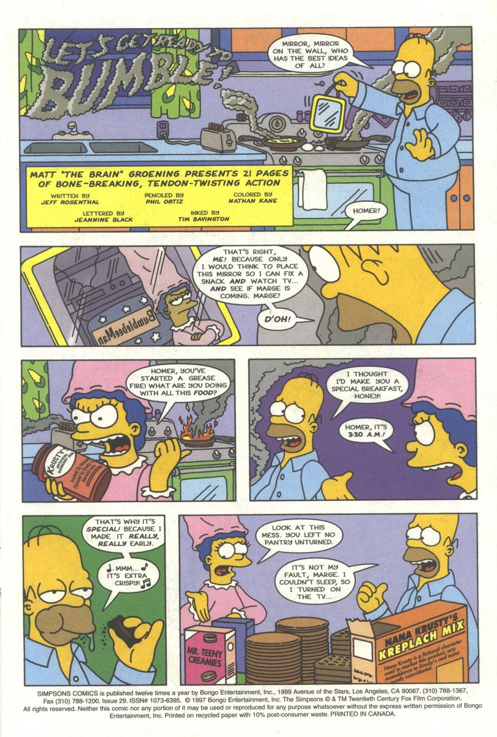 Read online Simpsons Comics comic -  Issue #29 - 2