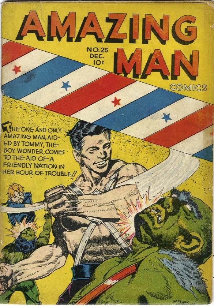 Read online Amazing Man Comics comic -  Issue #25 - 1