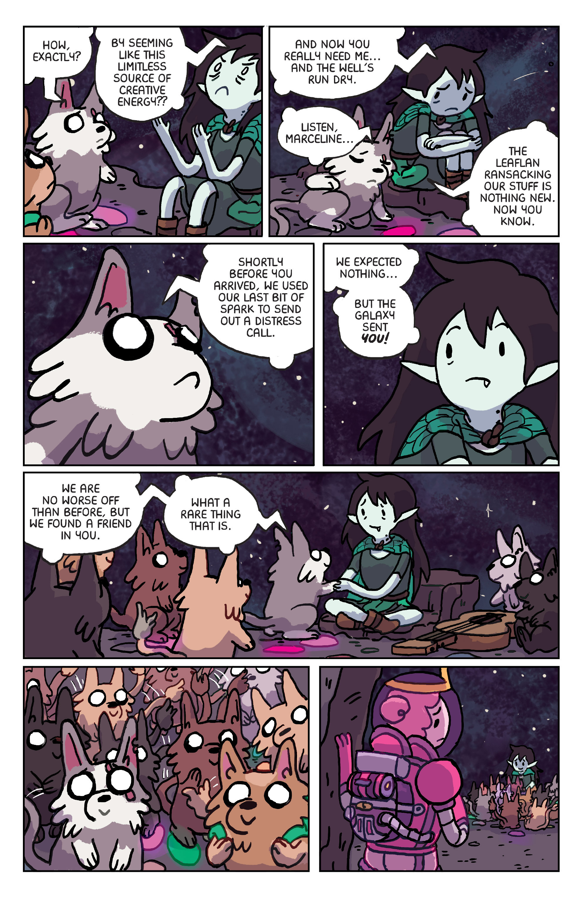 Read online Adventure Time: Marceline Gone Adrift comic -  Issue #6 - 7