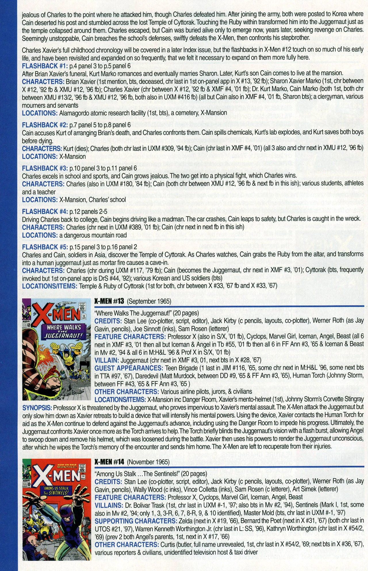 Read online Official Index to the Marvel Universe comic -  Issue #1 - 50