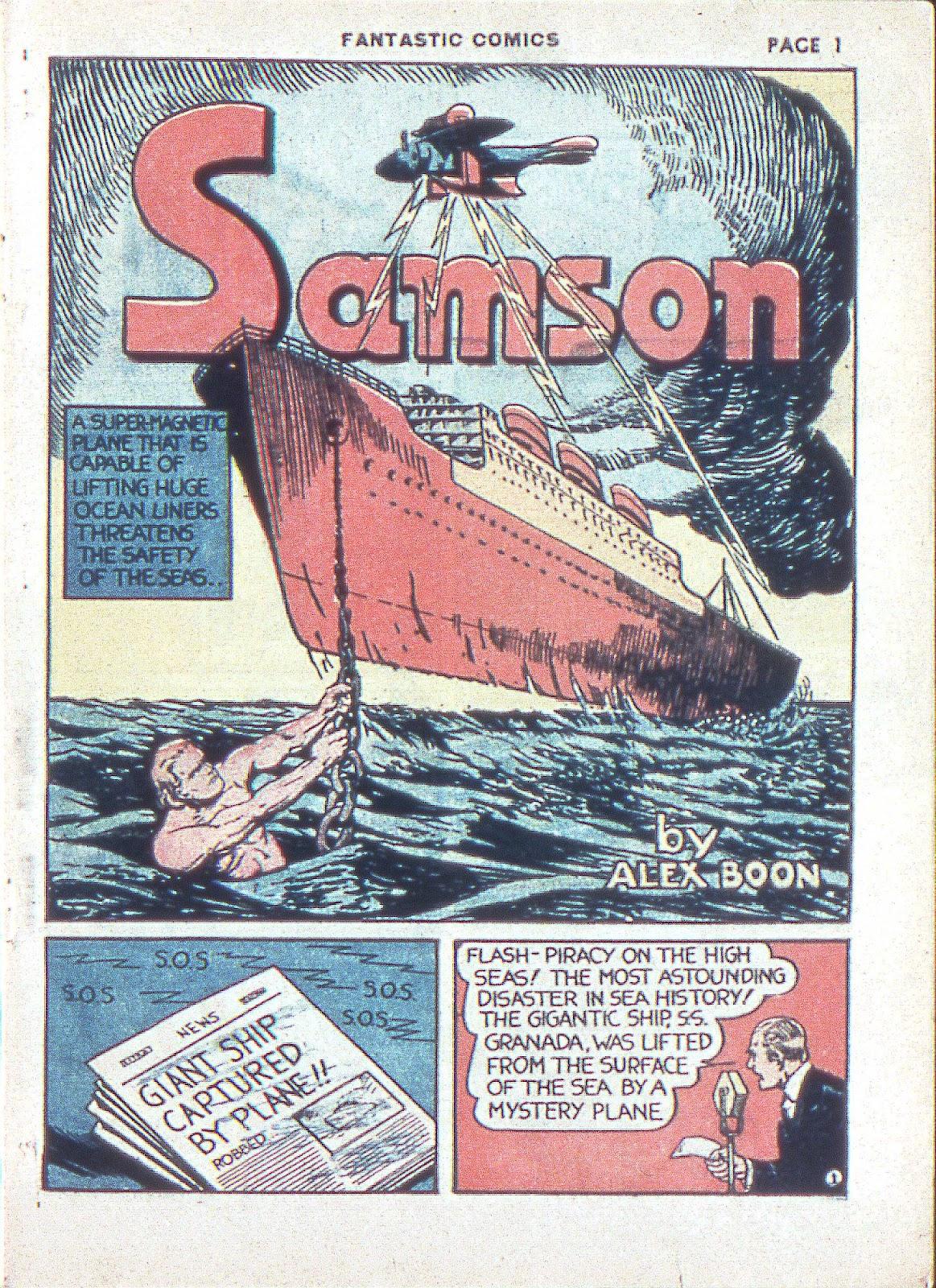 Read online Fantastic Comics comic -  Issue #3 - 4