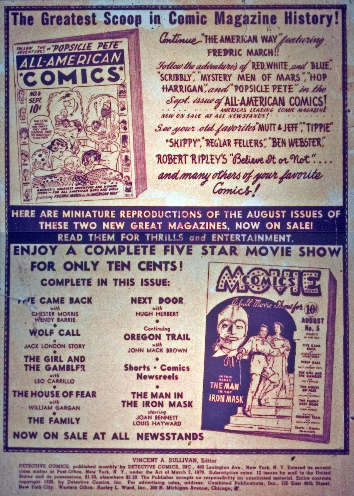 Read online Detective Comics (1937) comic -  Issue #31 - 2