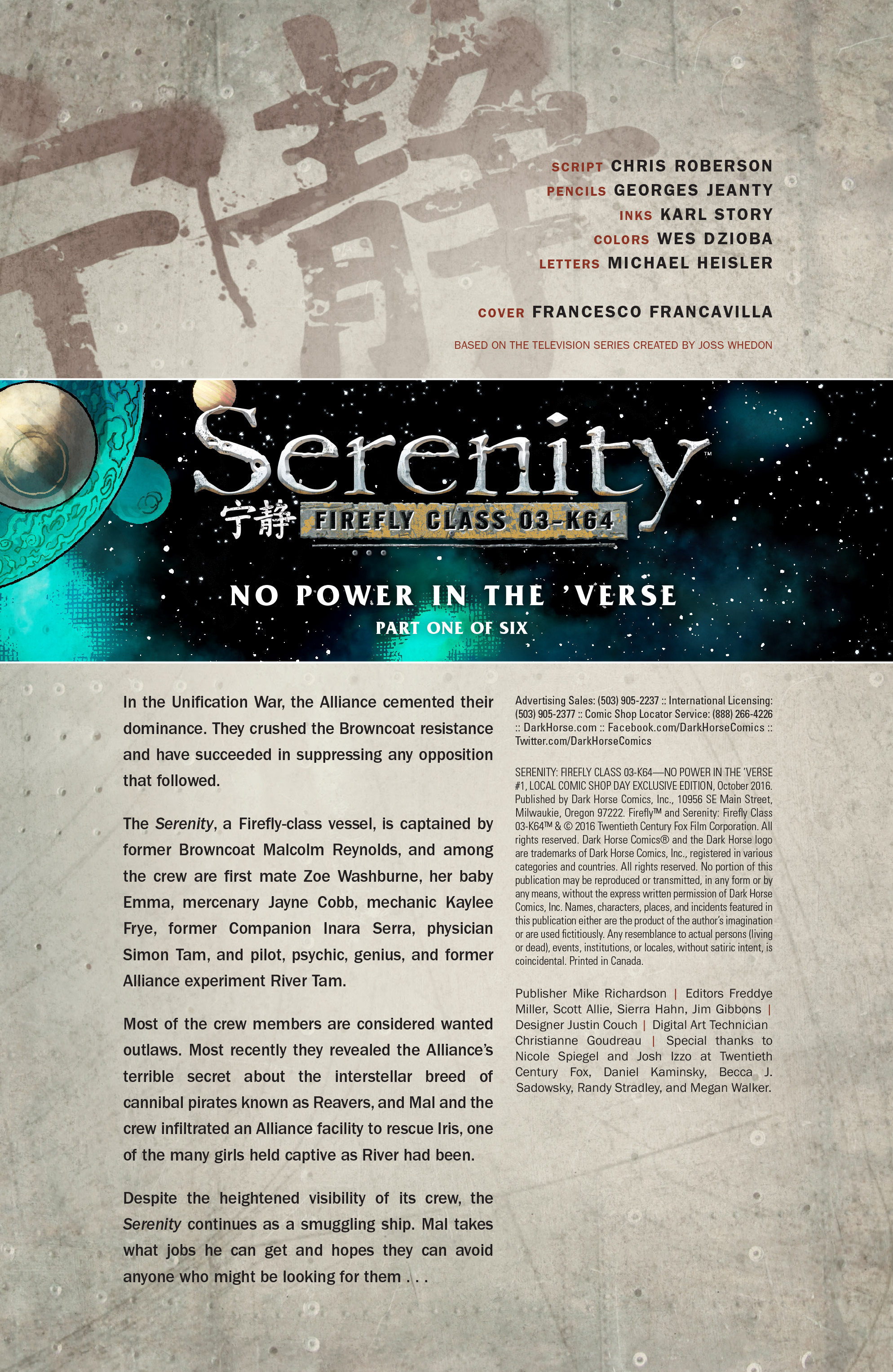 Read online Serenity: Firefly Class 03-K64 – No Power in the 'Verse comic -  Issue #1 - 11