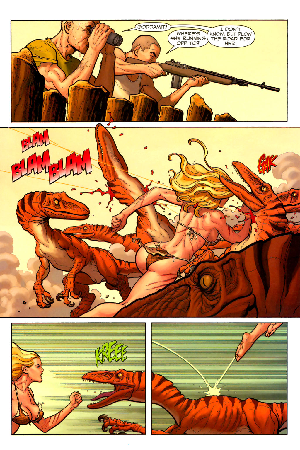 Read online Shanna, the She-Devil (2005) comic -  Issue #7 - 10