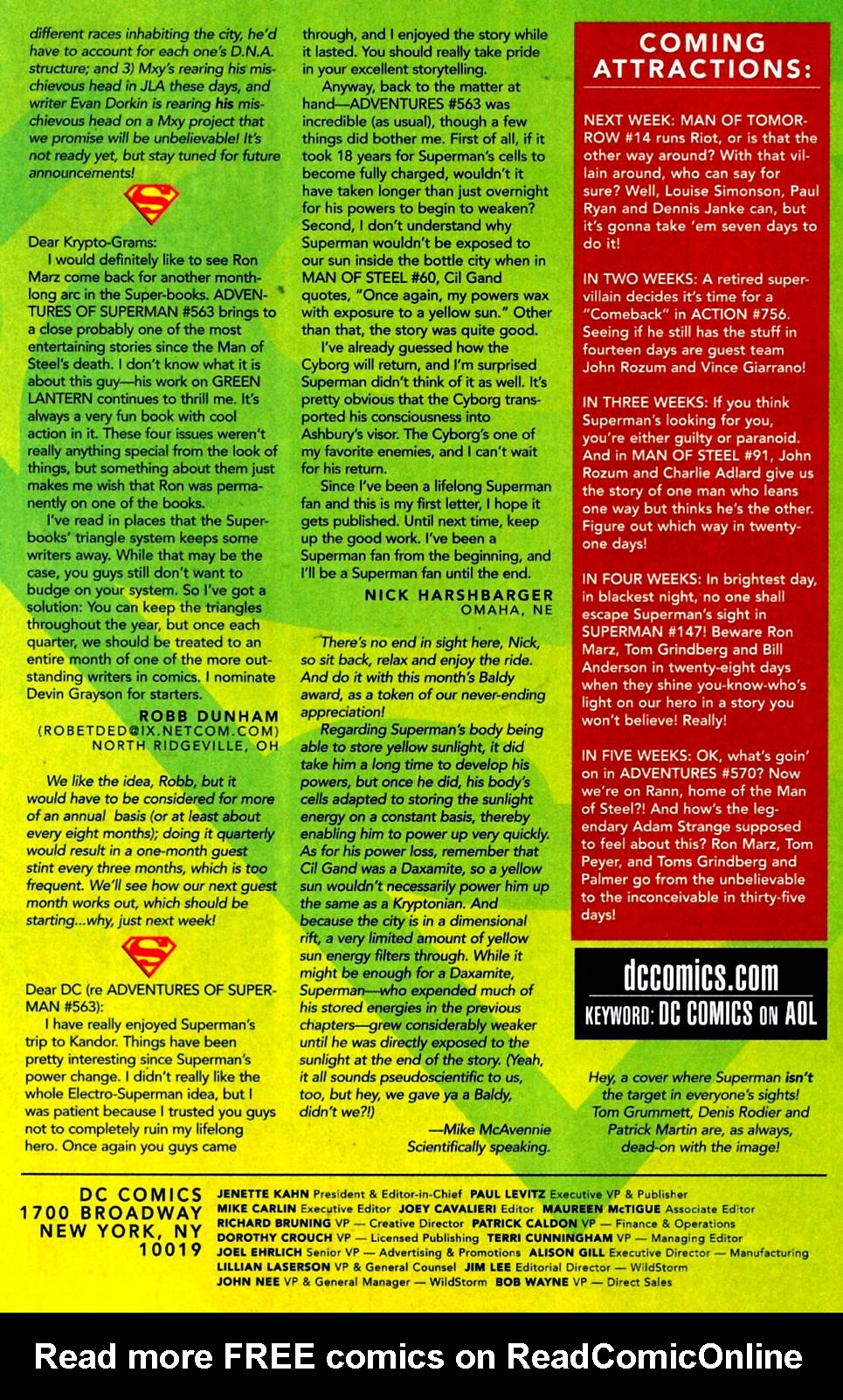 Read online Adventures of Superman (1987) comic -  Issue #569 - 25