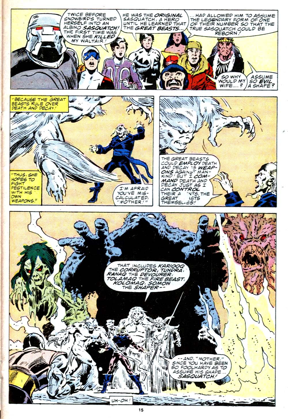 Read online Alpha Flight (1983) comic -  Issue #38 - 16