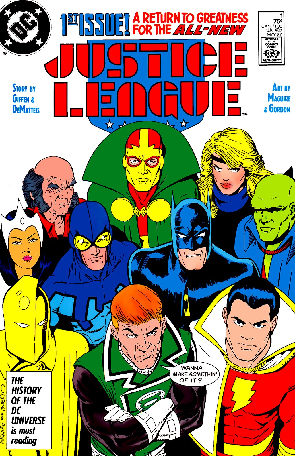 Justice League (1987) issue 1 - Page 1