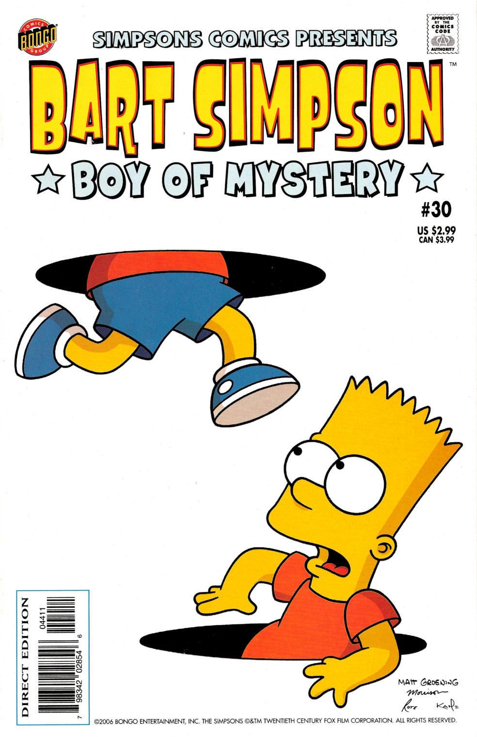 Read online Simpsons Comics Presents Bart Simpson comic -  Issue #30 - 1