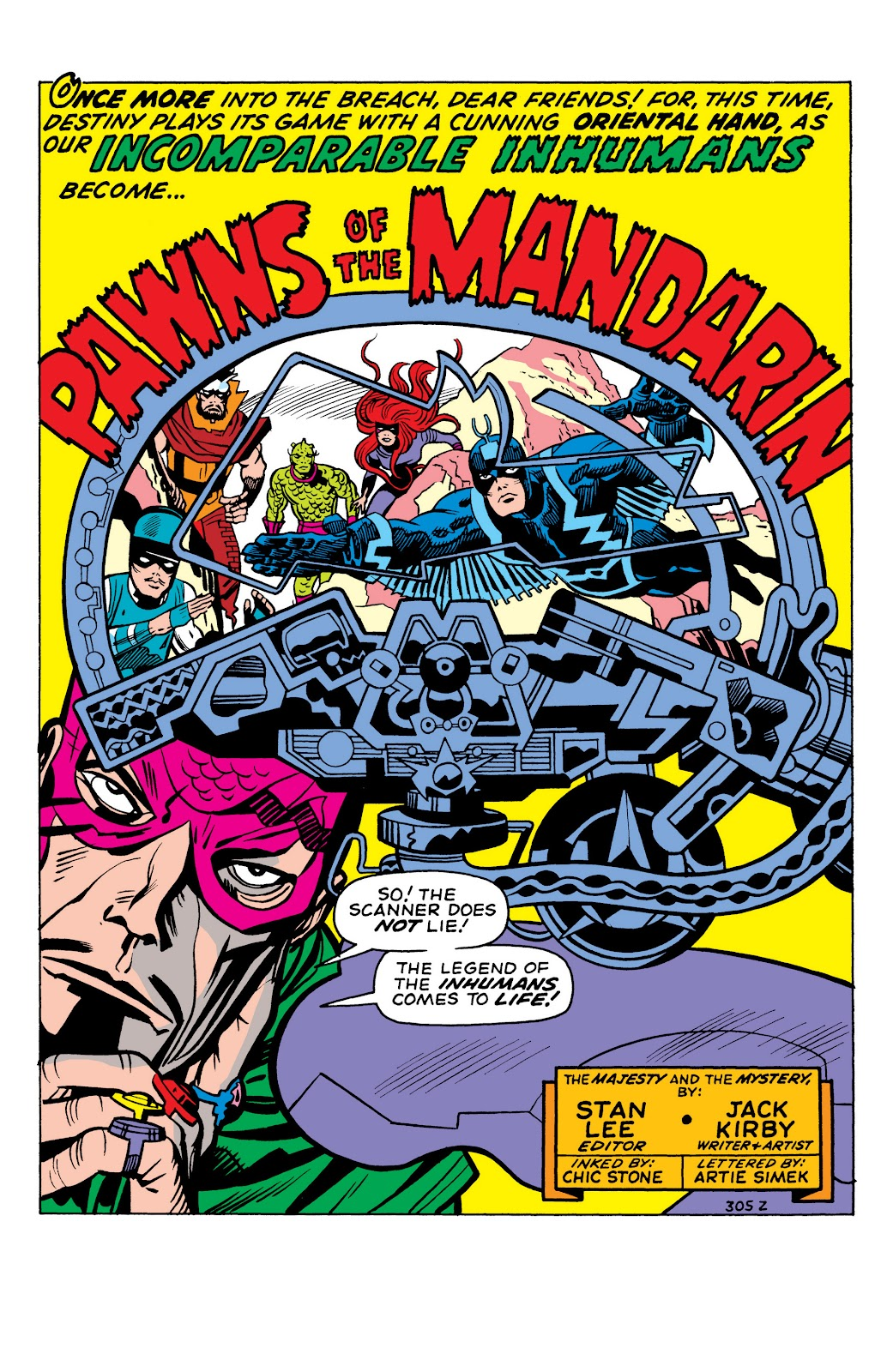 Read online Marvel Masterworks: The Inhumans comic -  Issue # TPB 1 (Part 1) - 92