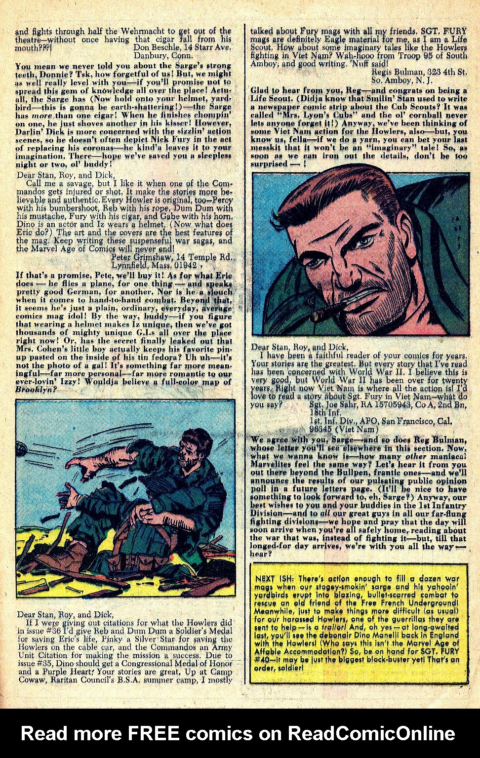 Read online Sgt. Fury comic -  Issue #39 - 33