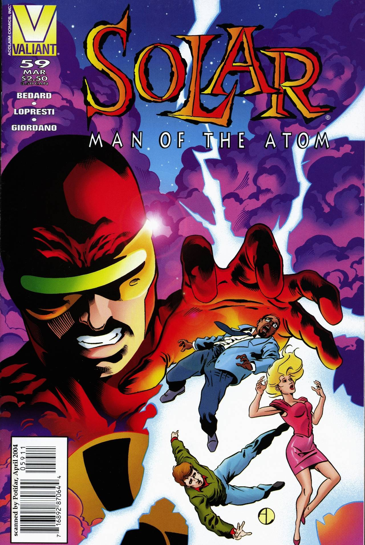 Read online Solar, Man of the Atom comic -  Issue #59 - 1