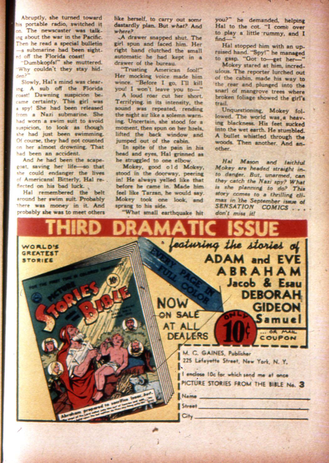 Read online Sensation (Mystery) Comics comic -  Issue #20 - 41