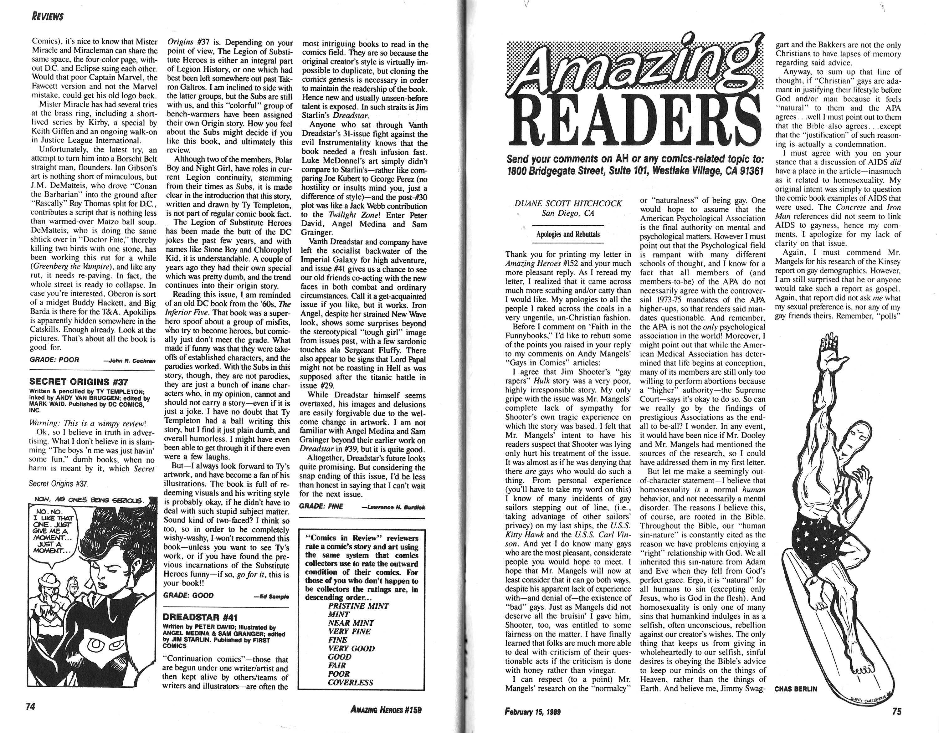 Read online Amazing Heroes comic -  Issue #159 - 38