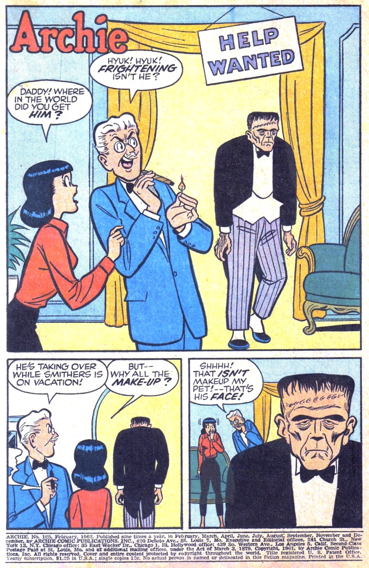 Read online Archie (1960) comic -  Issue #125 - 3