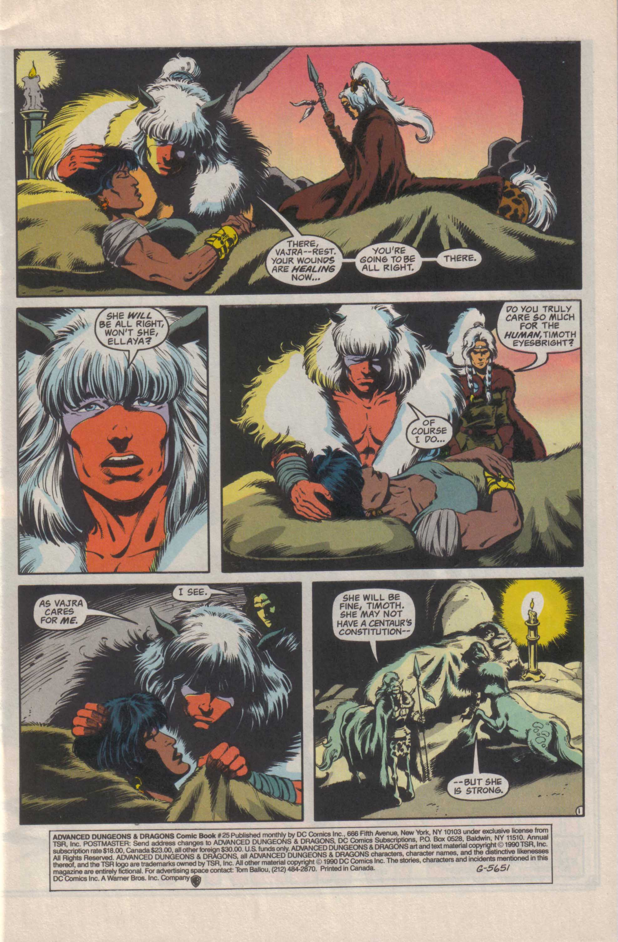 Read online Advanced Dungeons & Dragons comic -  Issue #25 - 2