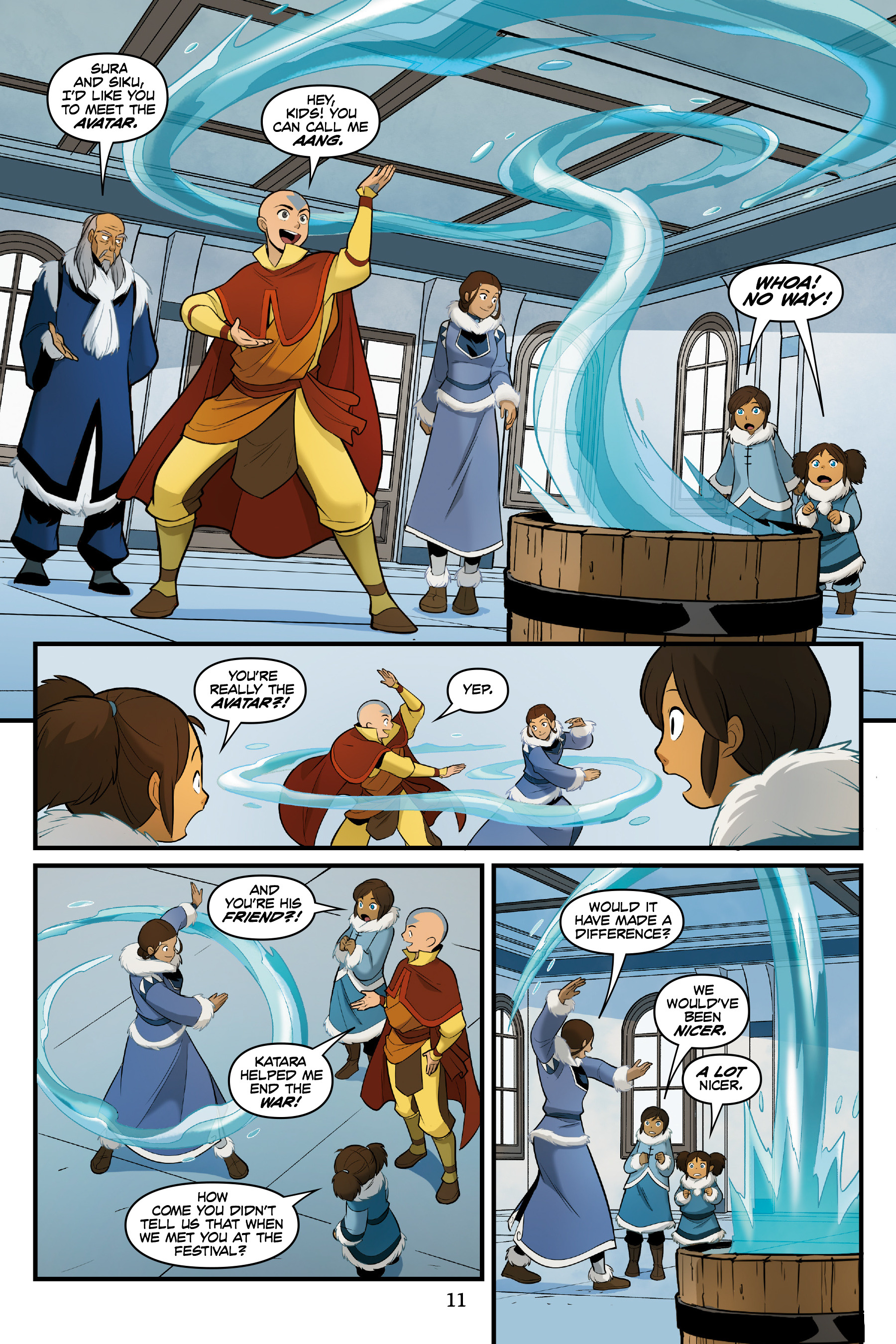 Read online Nickelodeon Avatar: The Last Airbender - North and South comic -  Issue #3 - 12