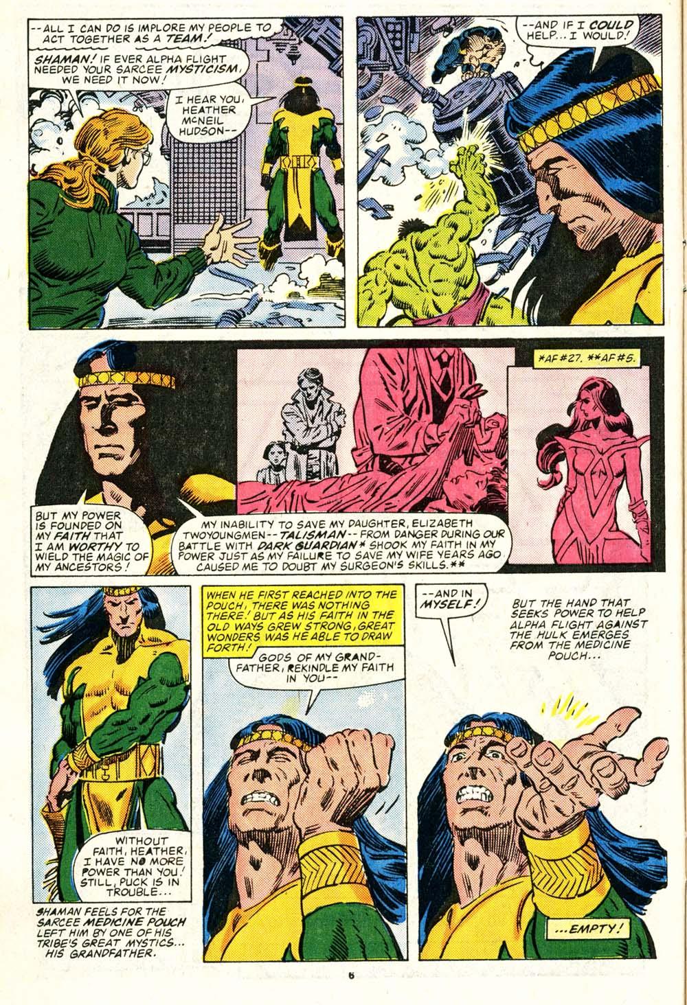 Read online Alpha Flight (1983) comic -  Issue #29 - 6
