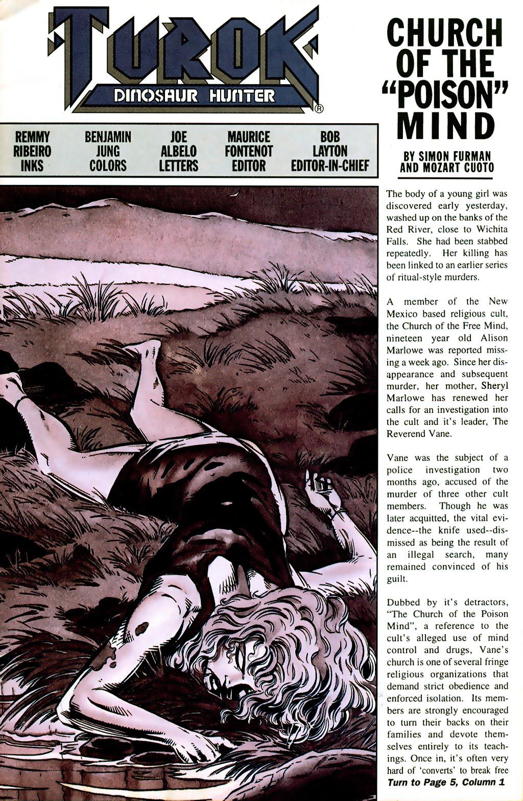 Read online Turok, Dinosaur Hunter (1993) comic -  Issue #41 - 2