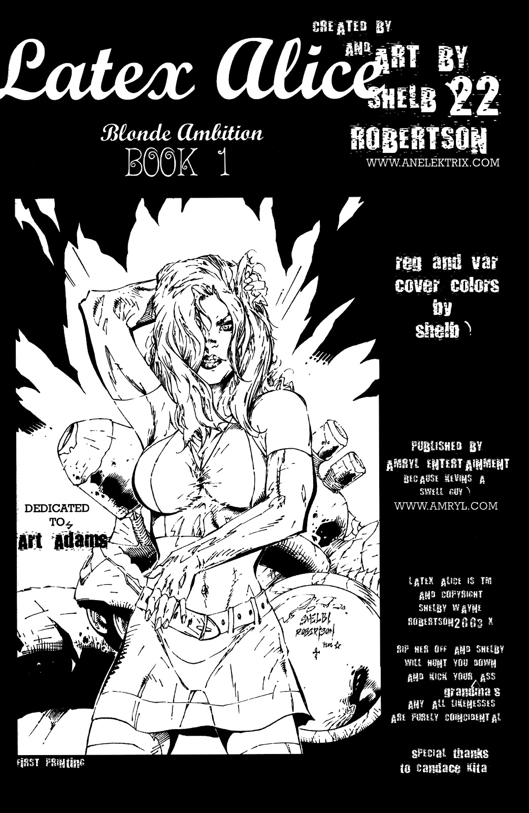 Read online Latex Alice - Blonde Ambition comic -  Issue # Full - 2