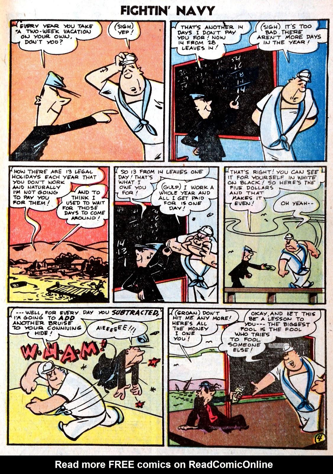 Read online Fightin' Navy comic -  Issue #75 - 23